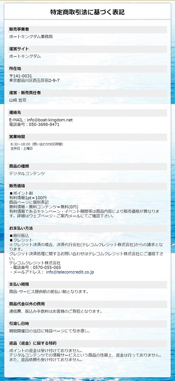 ボートキングダム(BOAT KINGDOM) 他サイトとの関連性 検証